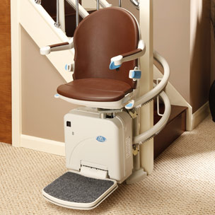Sterling Handicare 2000 Curved Stair Lift via Stair Lifts Atlanta