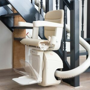 The Handicare Freecurve curved stair lift offers optimal aesthetics, ergonomics and convenience.
